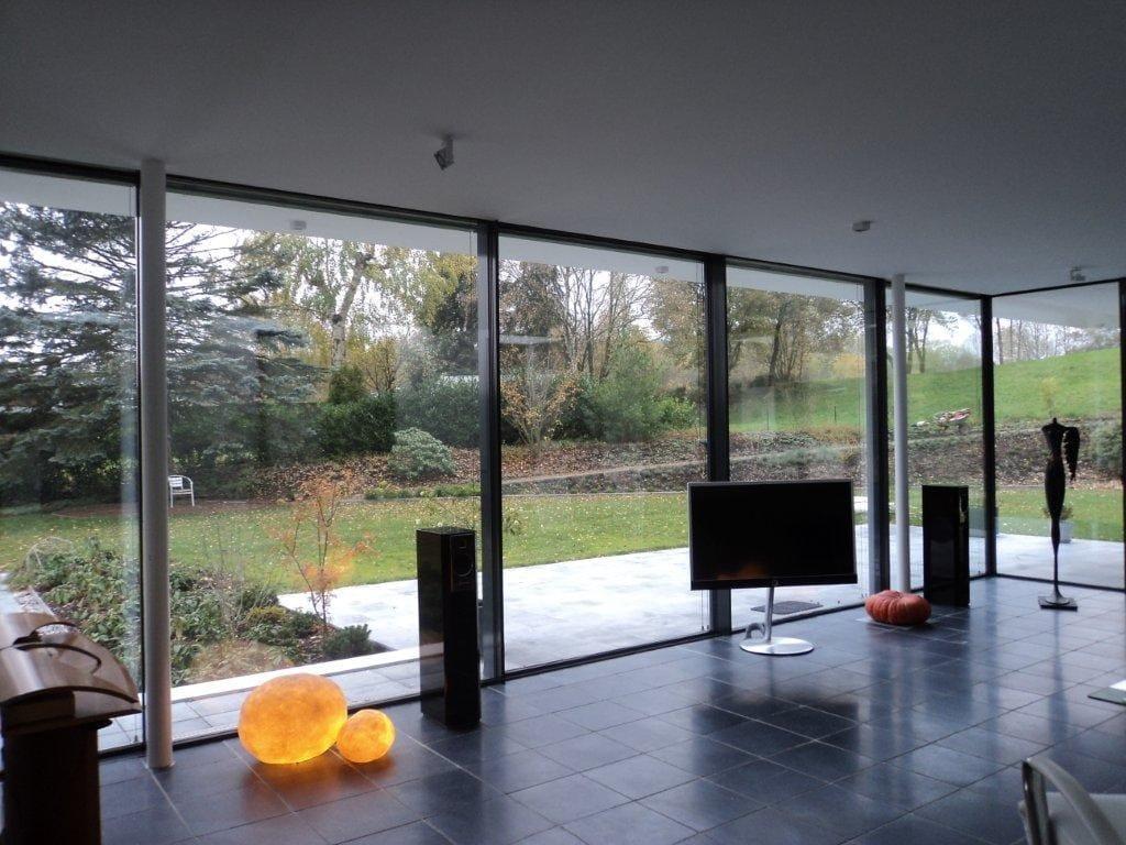 baie vitr e coulissante en aluminium keller glasshouse by keller. Black Bedroom Furniture Sets. Home Design Ideas