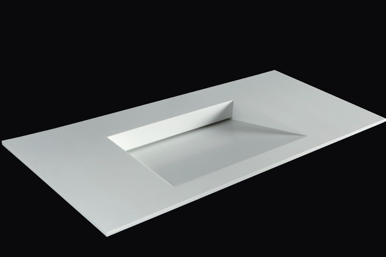 rectangular corian washbasin with integrated countertop plano wb10 by rifra. Black Bedroom Furniture Sets. Home Design Ideas