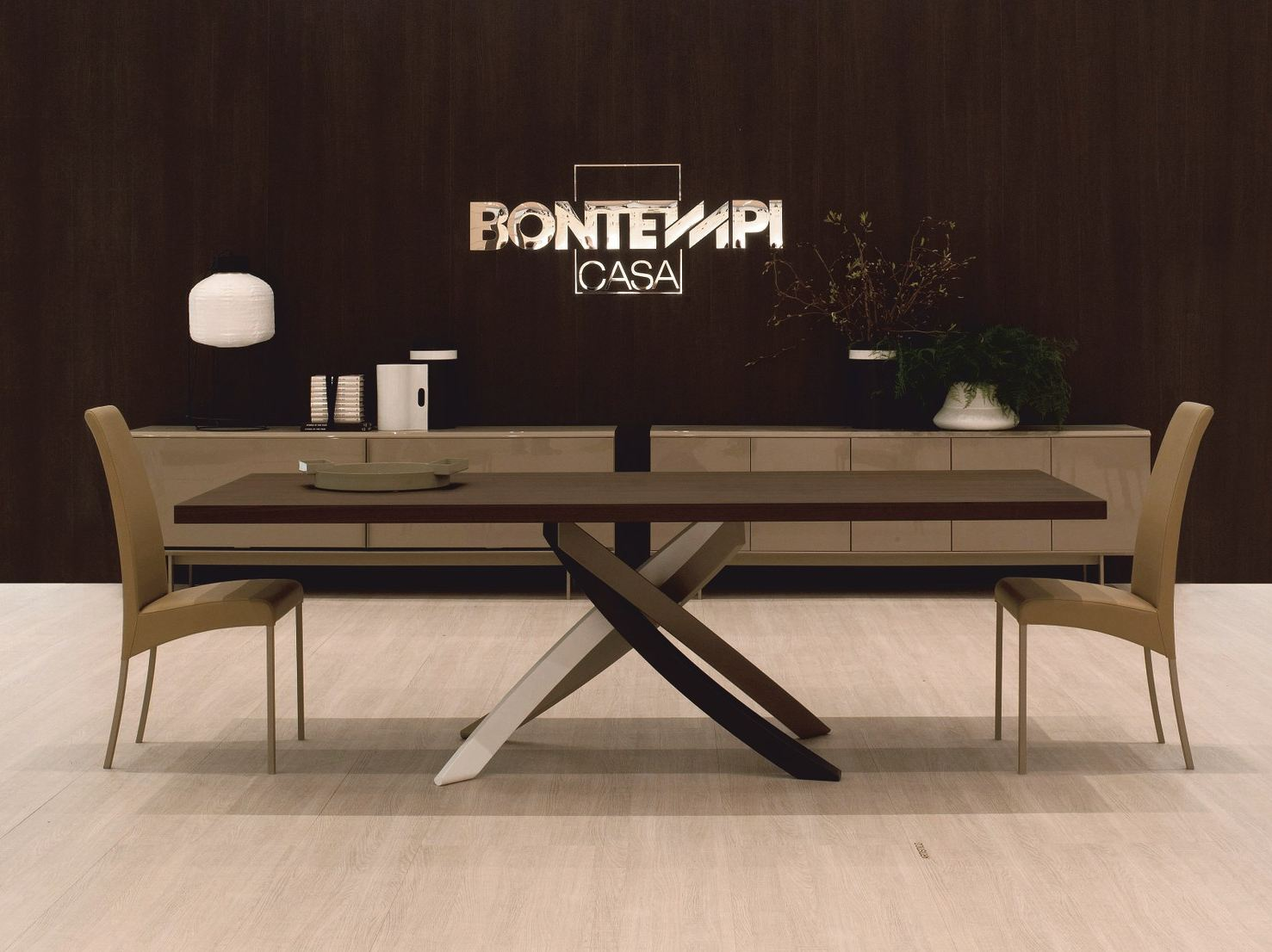 artistico  wooden table by bontempi -