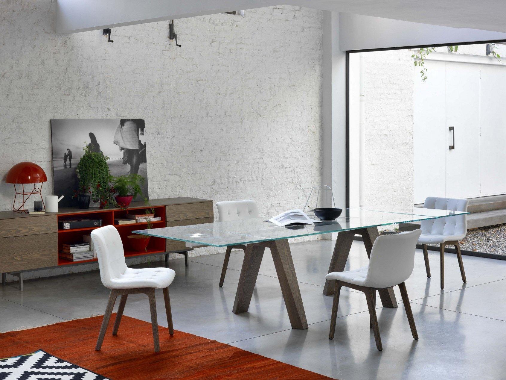 extending rectangular table aron by bontempi casa. Black Bedroom Furniture Sets. Home Design Ideas