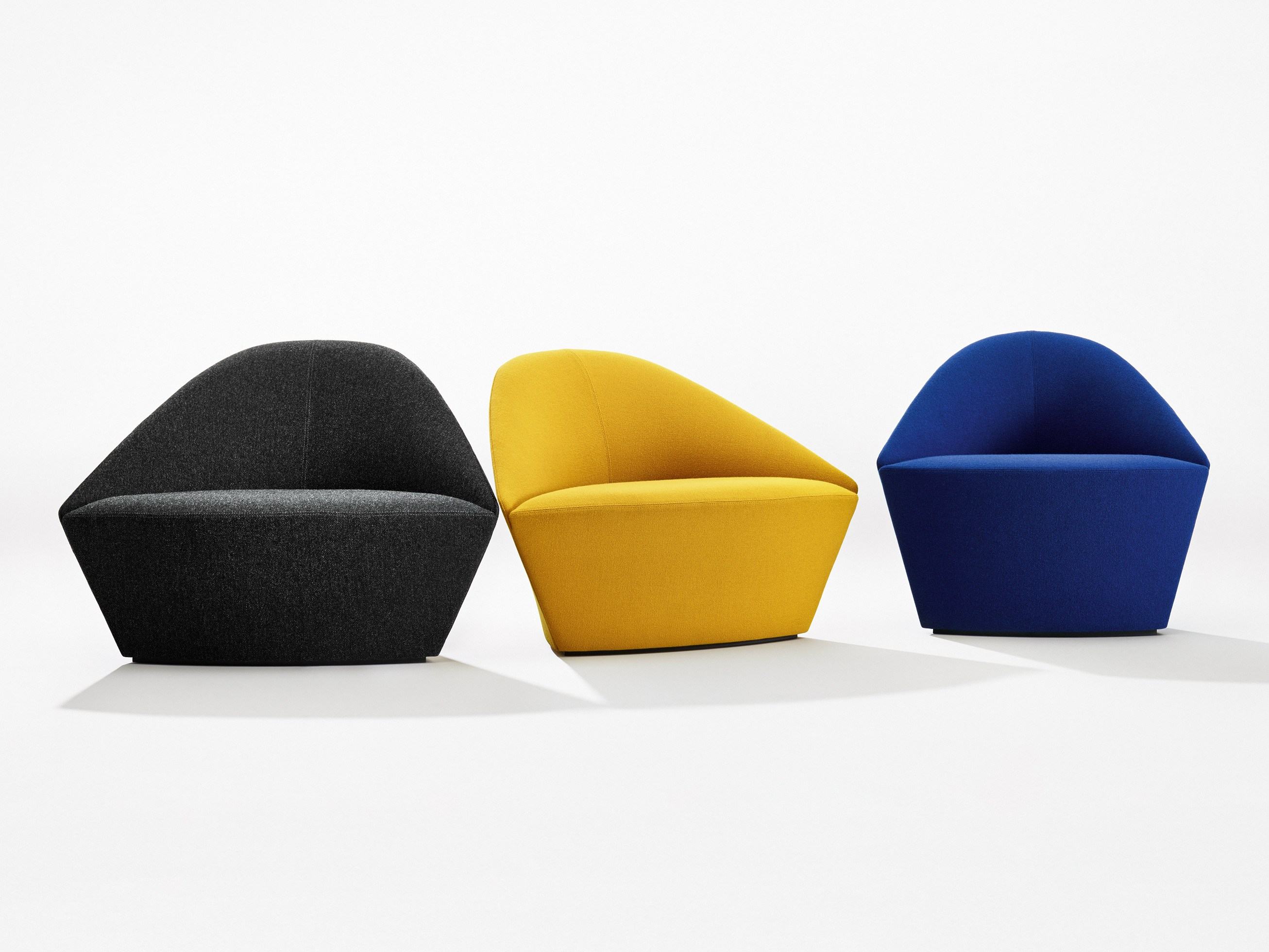 Upholstered Fabric Easy Chair Colina L By Arper Design