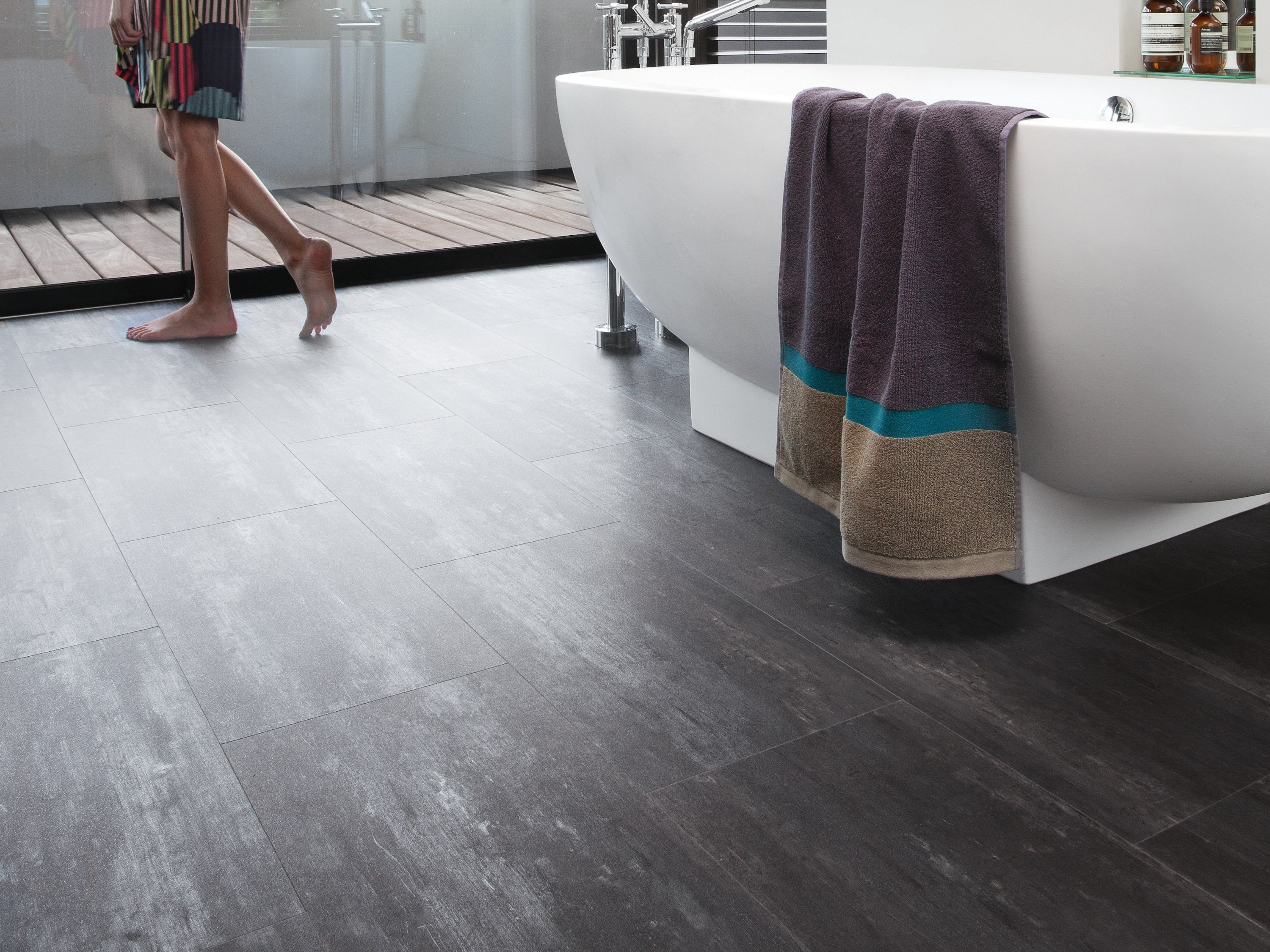 Synthetic material floor tiles senso urban by gerflor - Vloeren vinyl cement tegel ...
