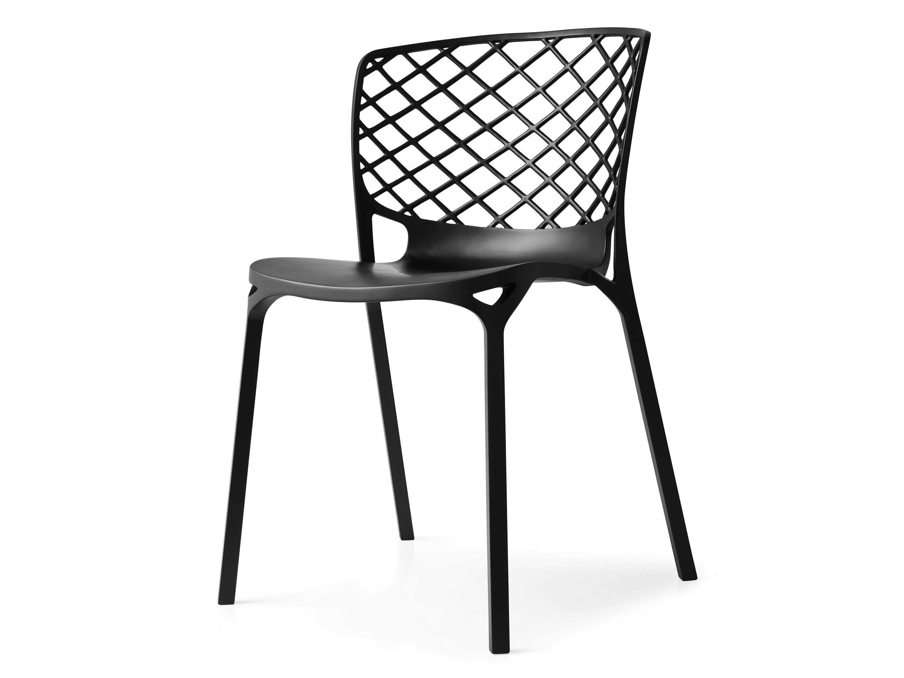 stackable chair in glass fibre reinforced nylon gamera by calligaris design archirivolto. Black Bedroom Furniture Sets. Home Design Ideas