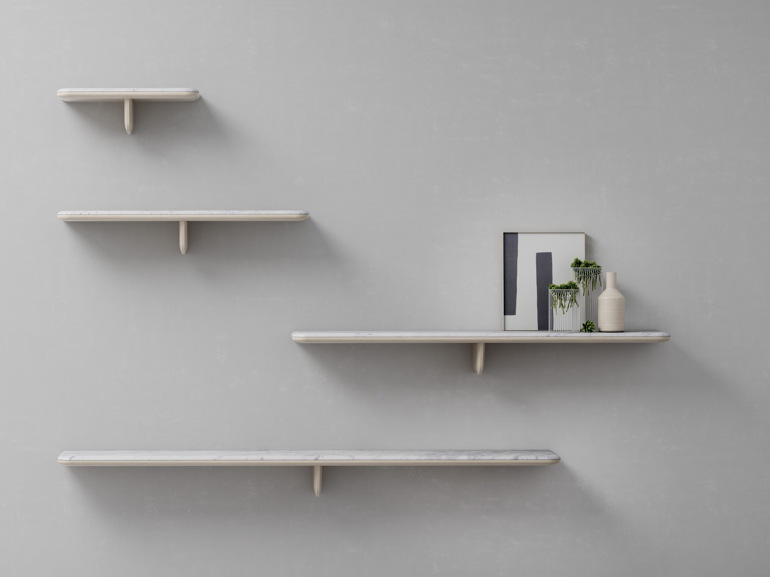 Egala Carrara Marble Wall Shelf By Retegui Design Jean