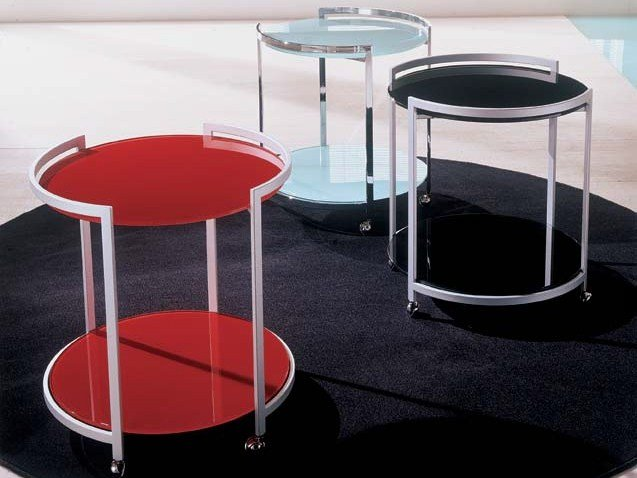 Carrello portavivande in cristallo round collezione - Carrello portavivande design ...