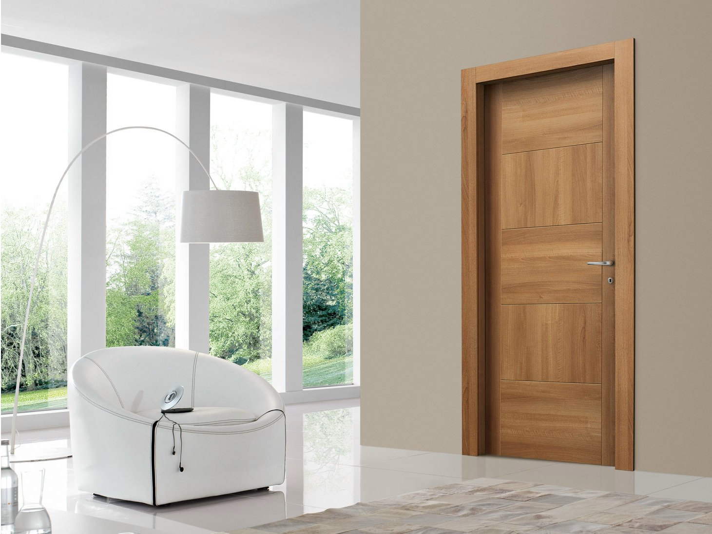 Porta a battente in noce square collezione planet by door for Gruppo door 2000 spa