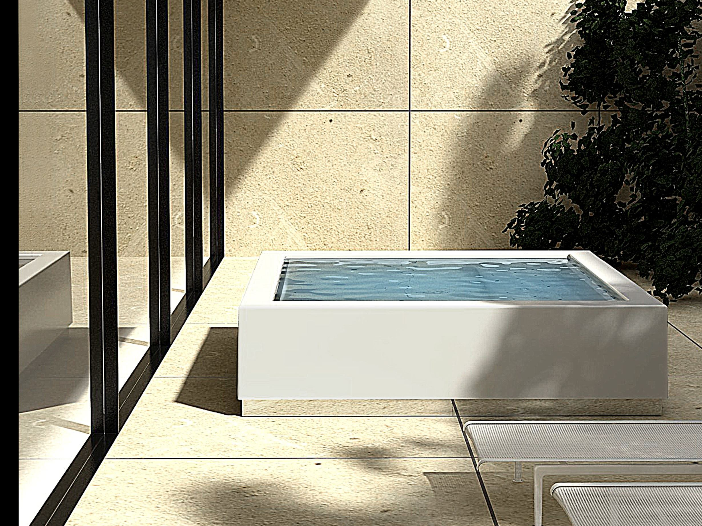 Overflow outdoor hot tub quadrat minipool by kos by - Jacuzzi para interior ...