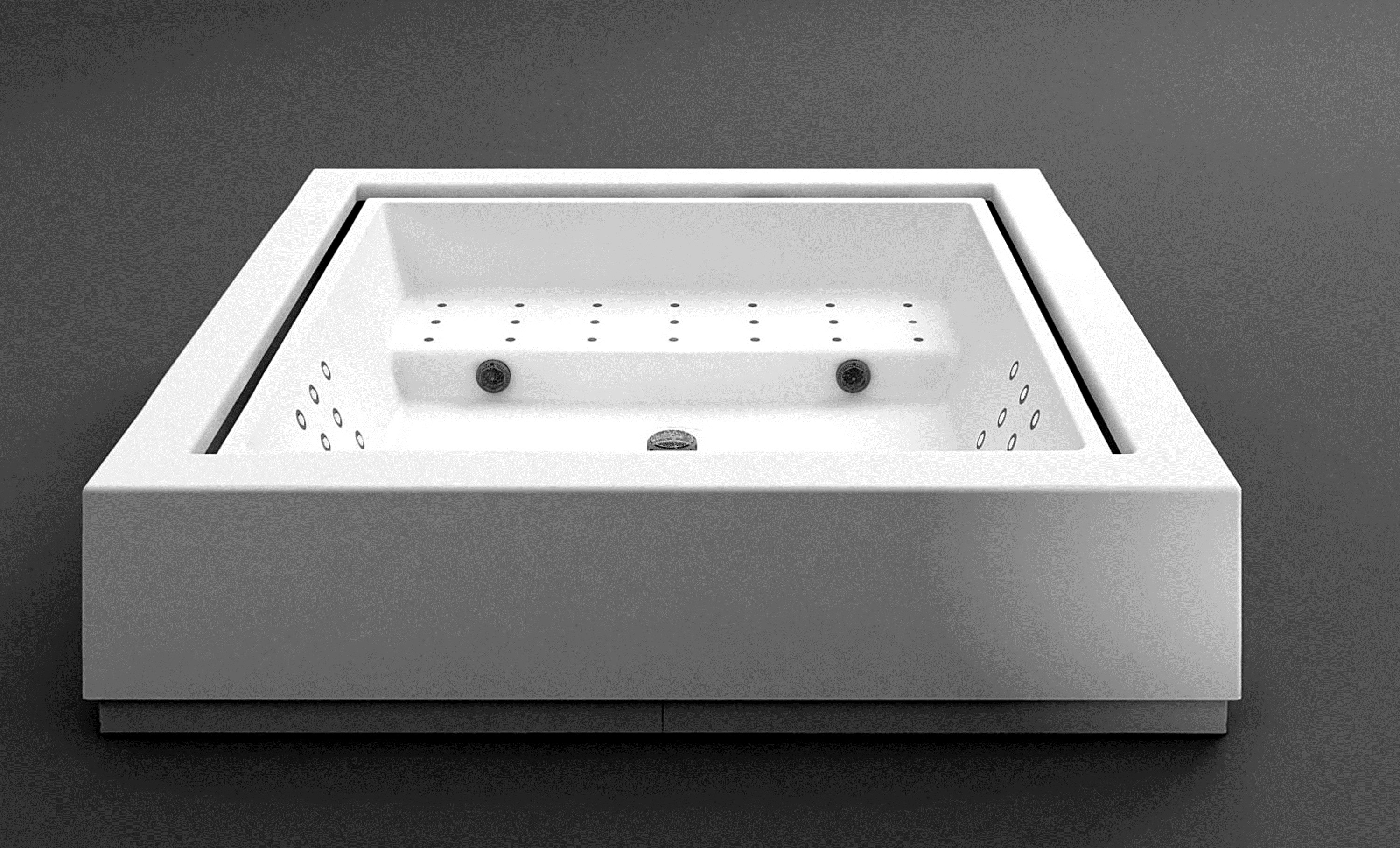 Overflow outdoor hot tub QUADRAT MINIPOOL by Kos by ...