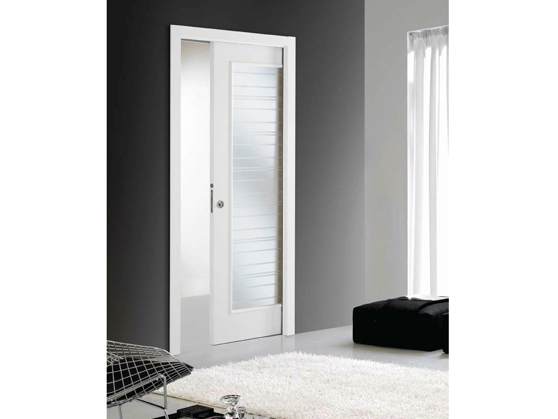 Zero 30 porte coulissante galandage by door 2000 by for Gruppo door 2000 spa