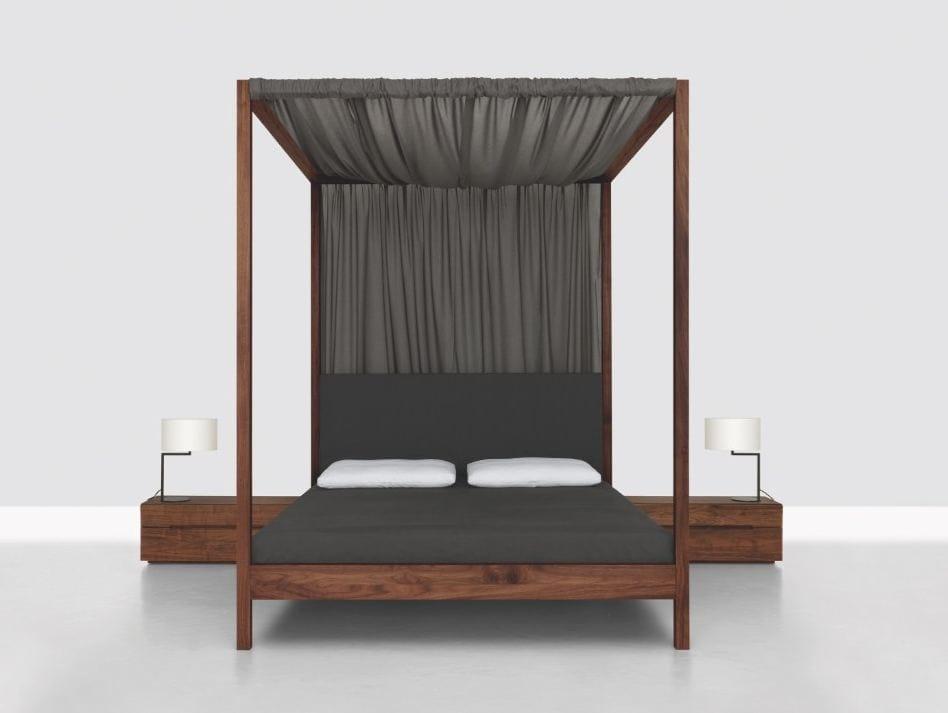 Letto matrimoniale in legno a baldacchino in heaven by zeitraum design nana bambuch birgit - Letto a baldacchino in legno ...