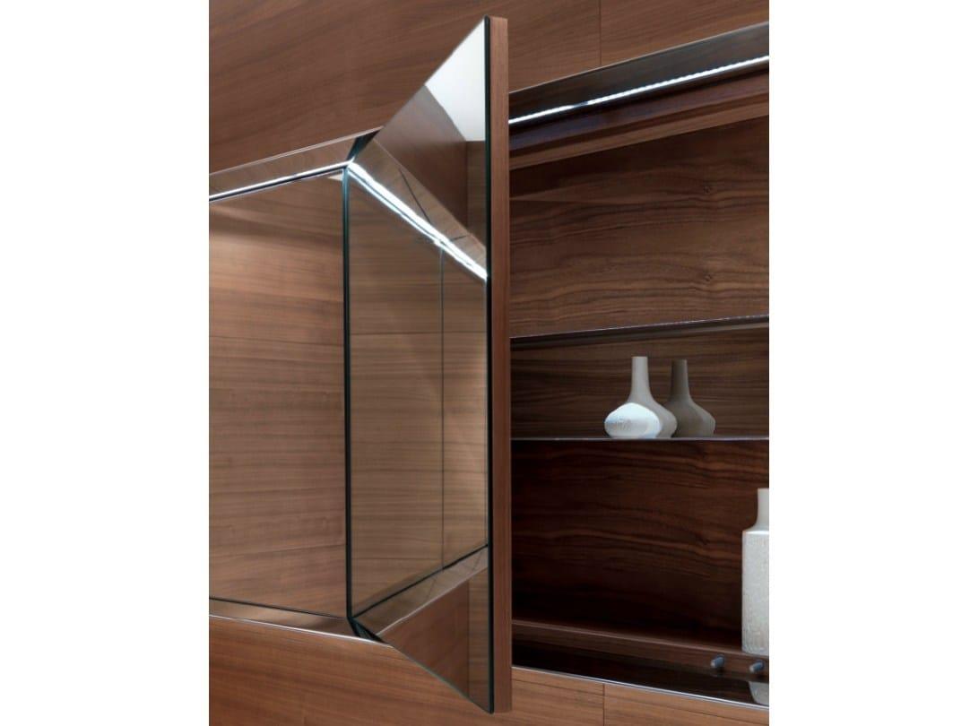 Specchio a parete con contenitore per bagno atelier level for Specchio bagno 3d