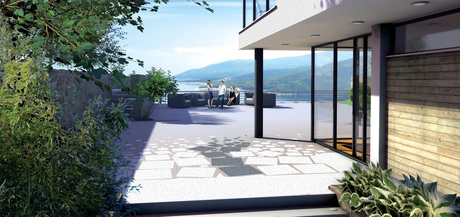 estrich aus kunstharz f r aussen triflex creative design. Black Bedroom Furniture Sets. Home Design Ideas