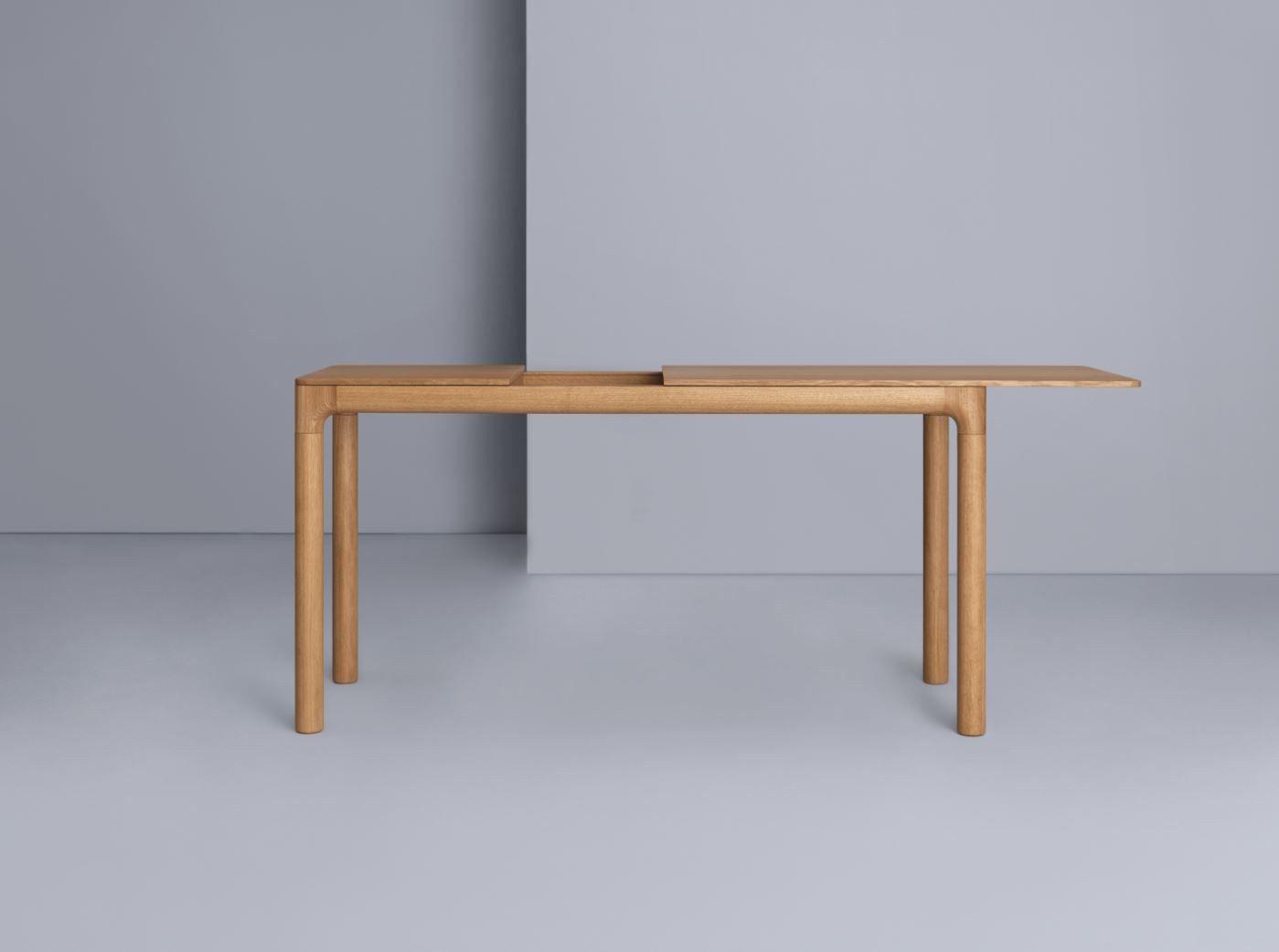 Ausziehbarer rechteckiger tisch aus holz m11 by zeitraum for Ausziehbarer tisch