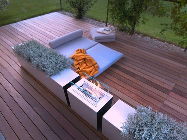 Wohnzimmer und Kamin bioethanol kamin für terrasse : Bioethanol- Kamin fu00fcr Auu00dfen FOLIO by FALPER Design Talocci Design