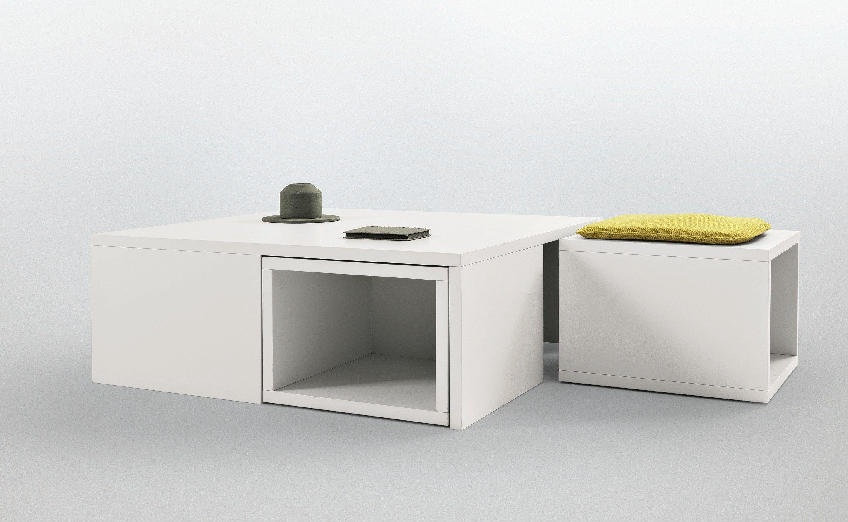 Elemento di servizio con cubi contenitori / pouf 1+4 by MisuraEmme ...
