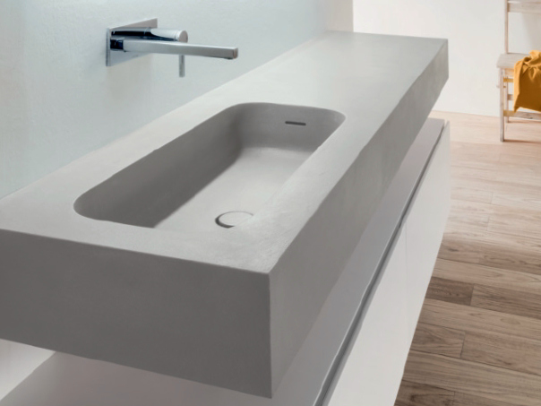 Round h15 lavabo singolo by falper design falper design for Piani autoportanti coperti