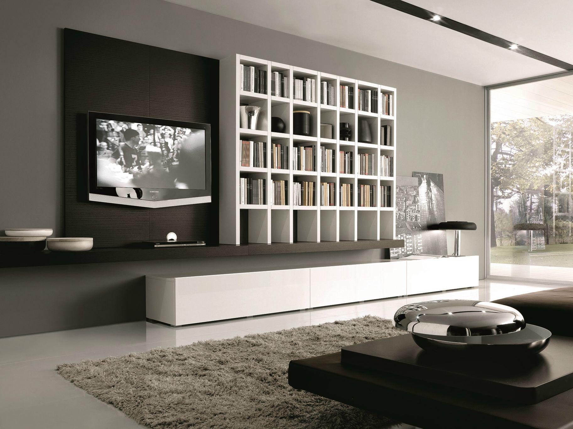 Mueble modular de pared composable lacado de madera - Lacado de madera ...