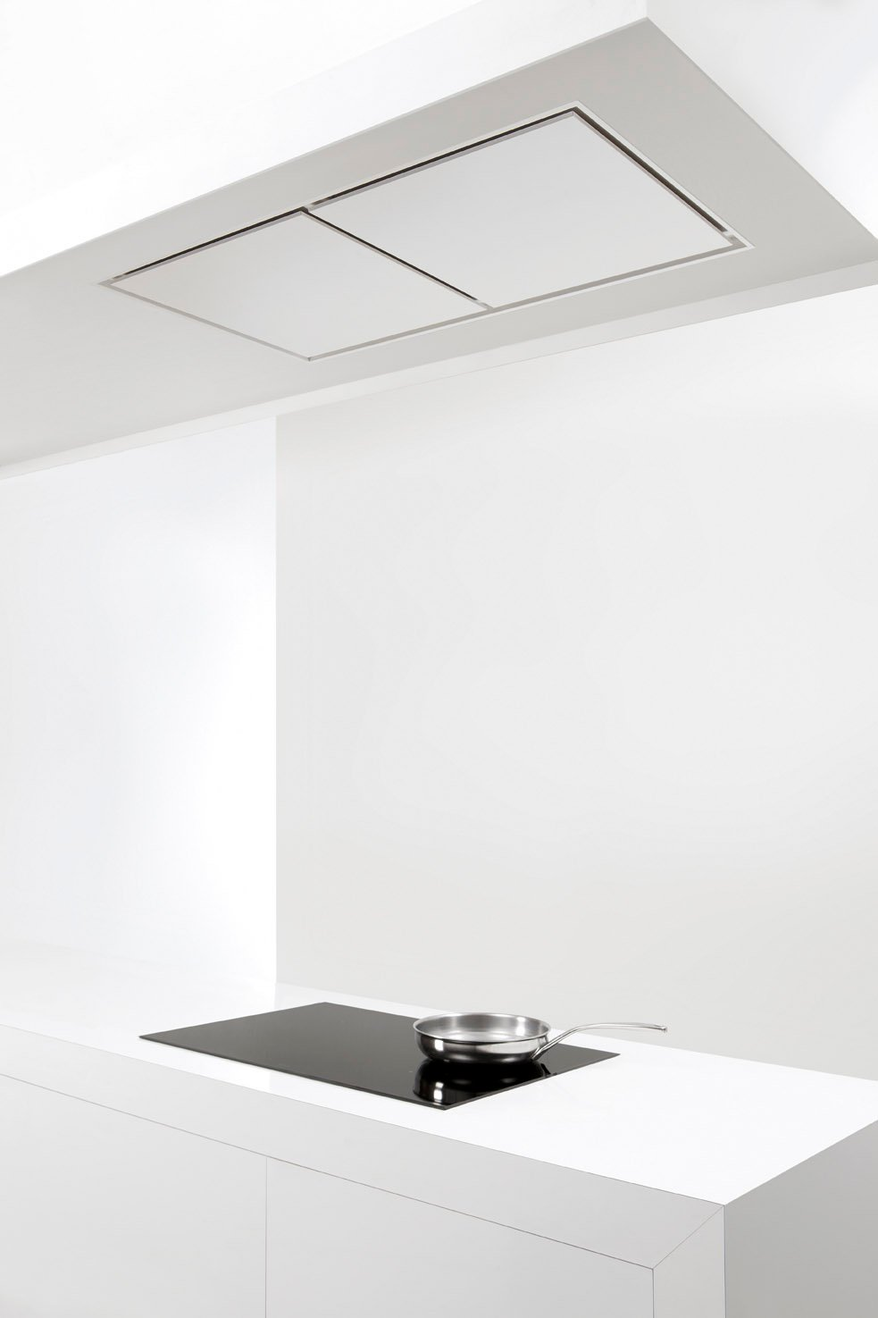 Hotte de plafond encastrable en acier inoxydable 856 maxi for Hotte de cuisine plafond