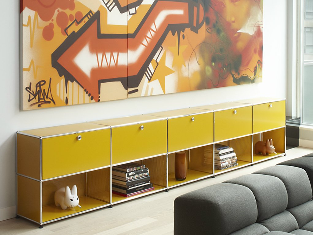usm haller sideboard for living room wohnzimmerschrank by usm modular furniture. Black Bedroom Furniture Sets. Home Design Ideas