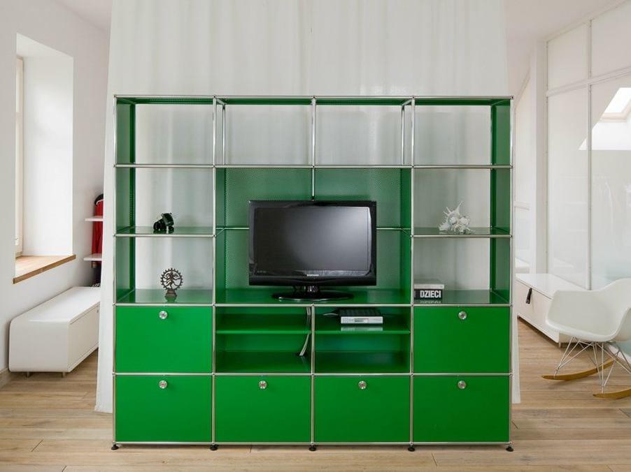 usm haller media shelving tv wall system by usm modular furniture design fritz haller. Black Bedroom Furniture Sets. Home Design Ideas