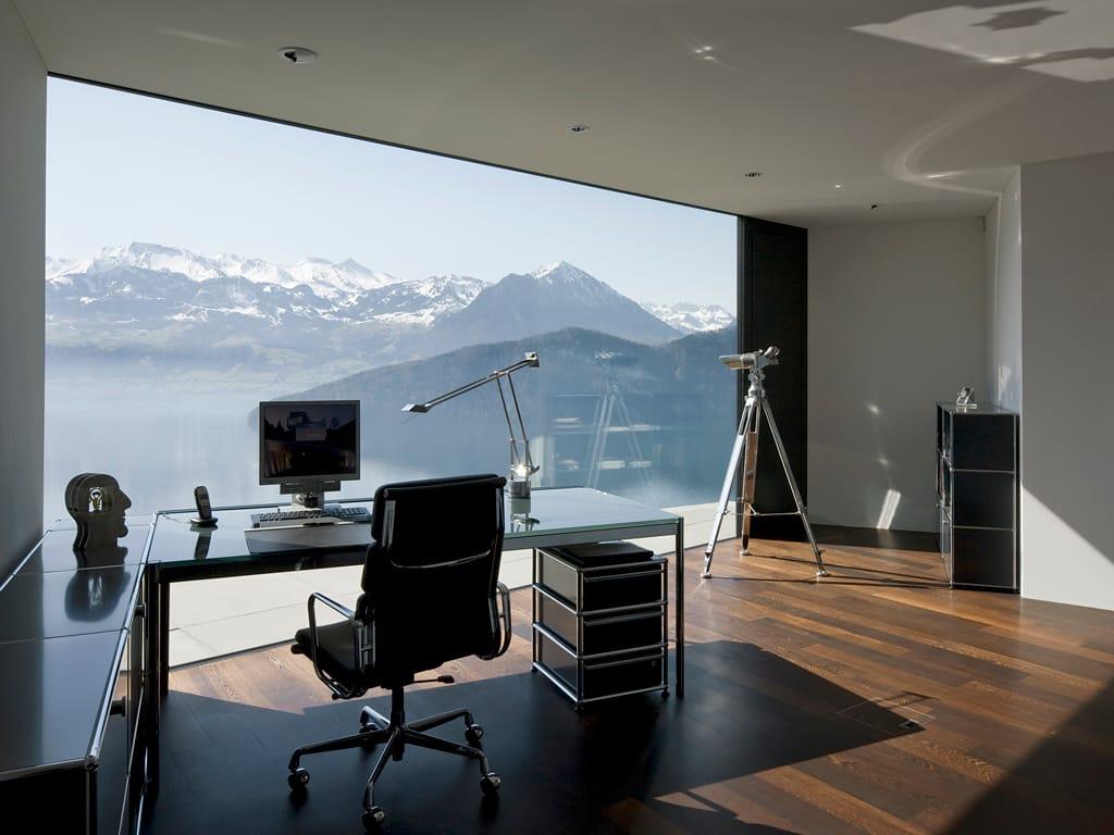 usm haller home office table h henverstellbarer. Black Bedroom Furniture Sets. Home Design Ideas