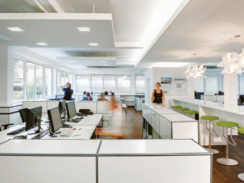 usm haller table for shared workstations office desk by. Black Bedroom Furniture Sets. Home Design Ideas