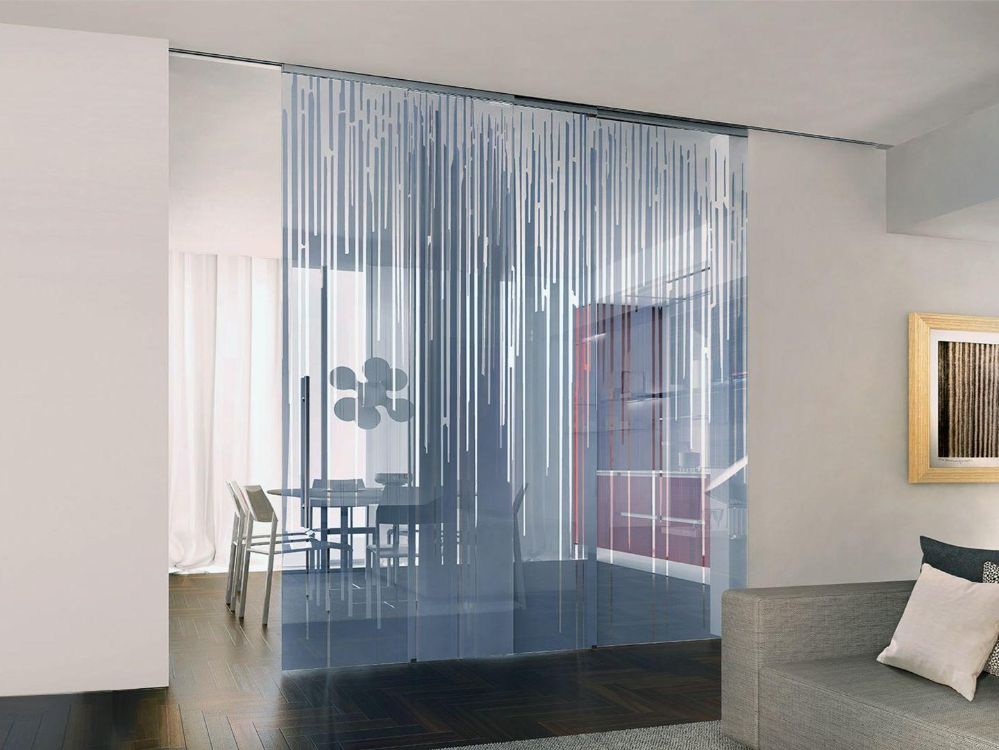 Cloison amovible porte coulissante en verre d cor - Cloison en verre interieur ...