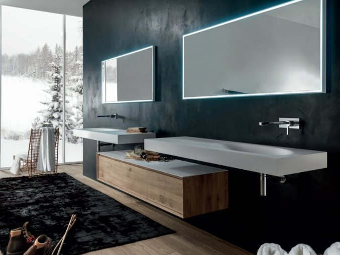 SHAPE EVO Mobile bagno sospeso by FALPER design Michael Schmidt