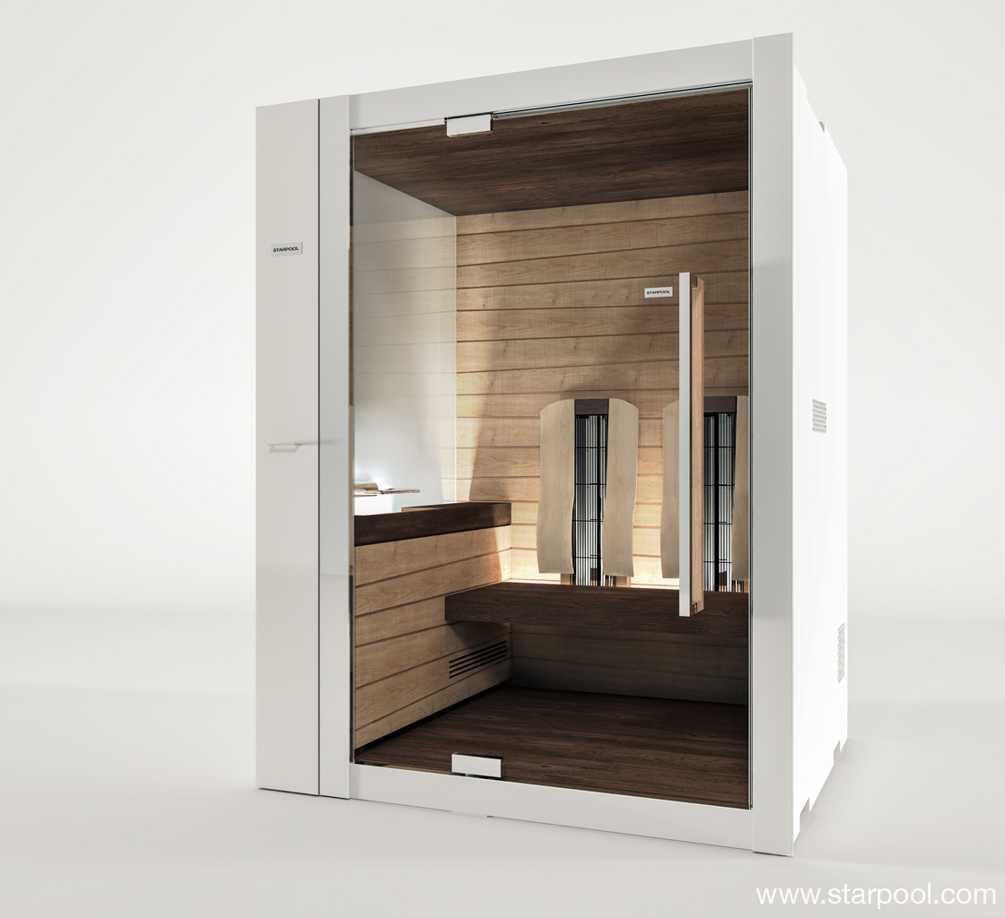 infrarotsauna sweet sauna 90 combi by starpool design cristiano mino. Black Bedroom Furniture Sets. Home Design Ideas