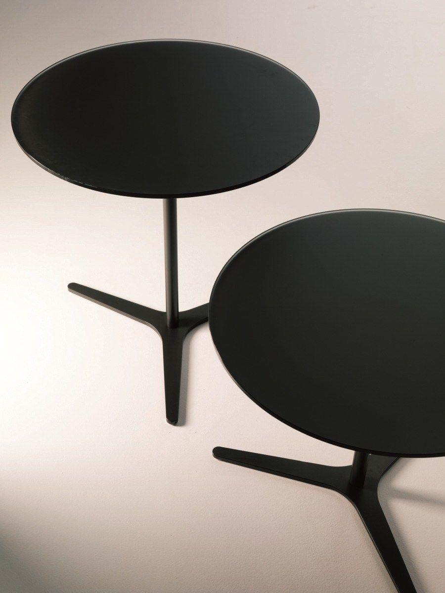 Mesa de centro baja de cristal de estilo moderno para for Mesas de centro de salon bajas
