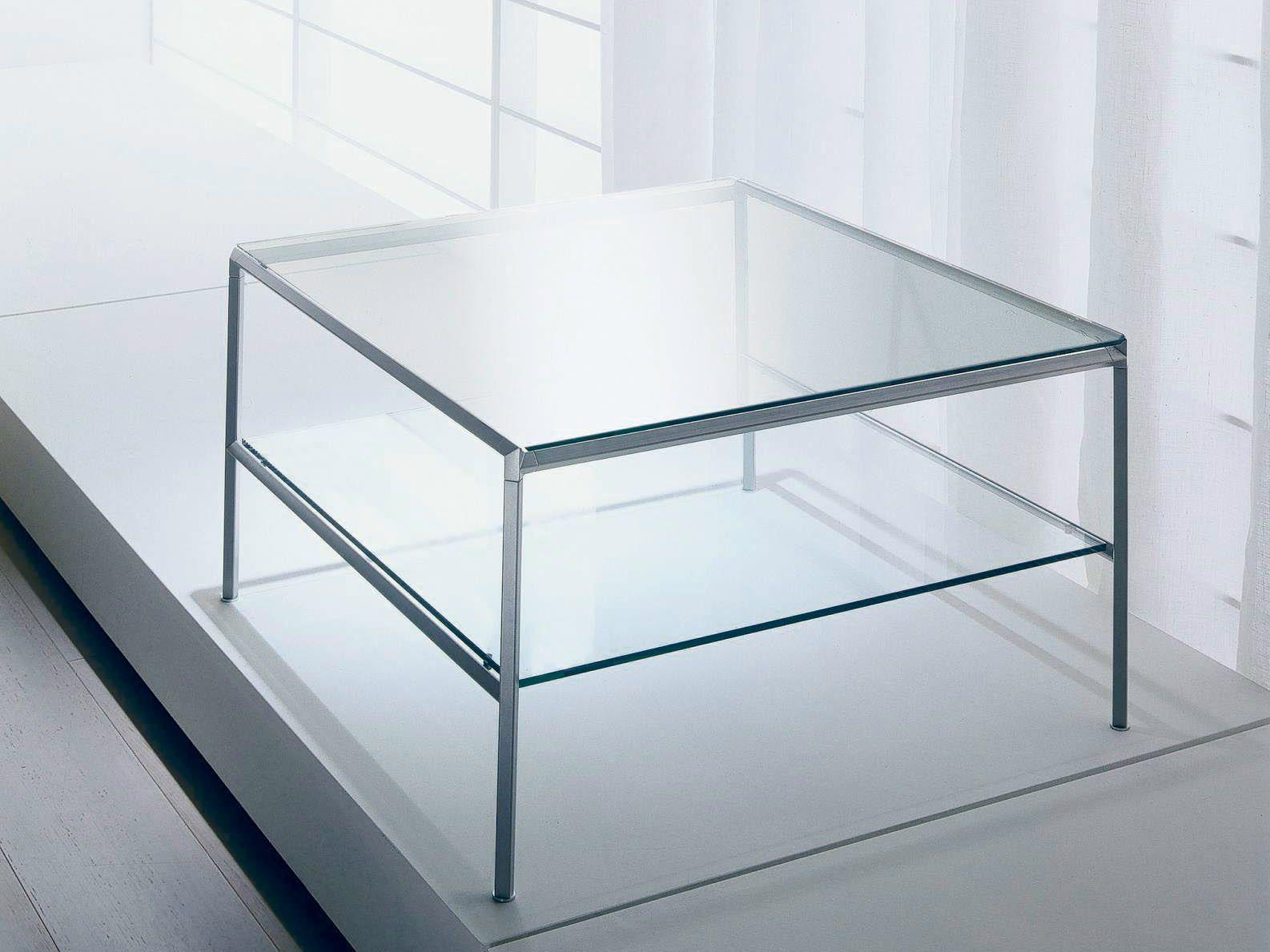 Diagonal tavolino quadrato by bontempi casa design for Tavolino da salotto in cristallo