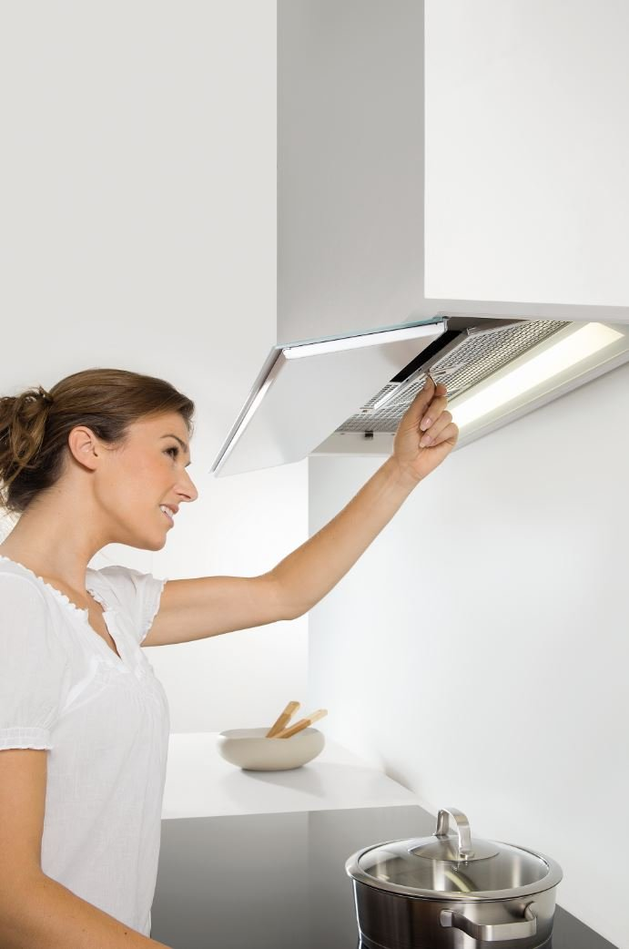 Built In Cooker Hood With Integrated Lighting 686 Fusion