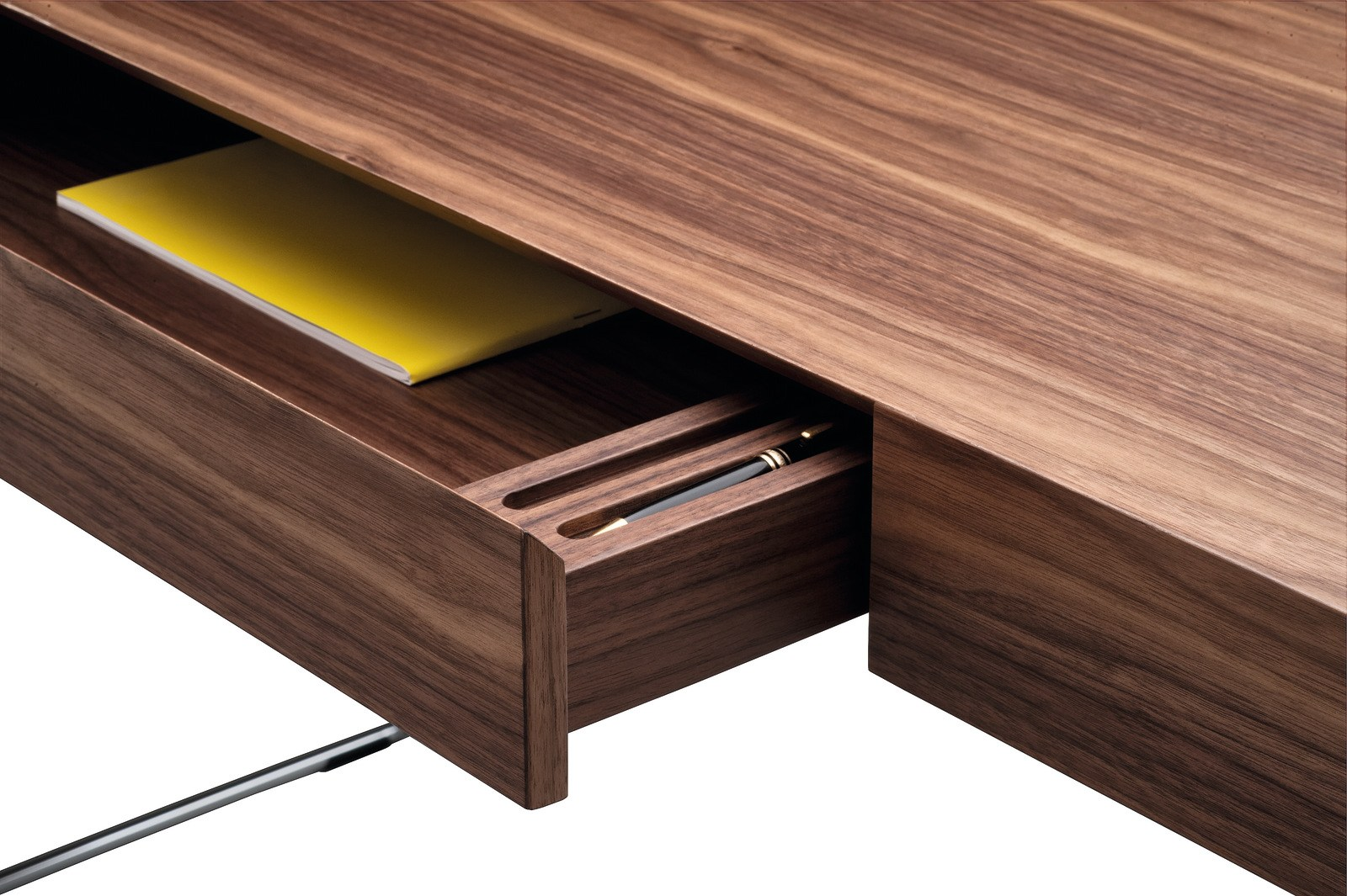 wood veneer secretary desk maestrale by zanotta design. Black Bedroom Furniture Sets. Home Design Ideas