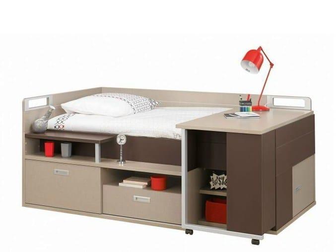 Letto con scrivania per ragazzi letto collezione dimix by for Letto scrivania