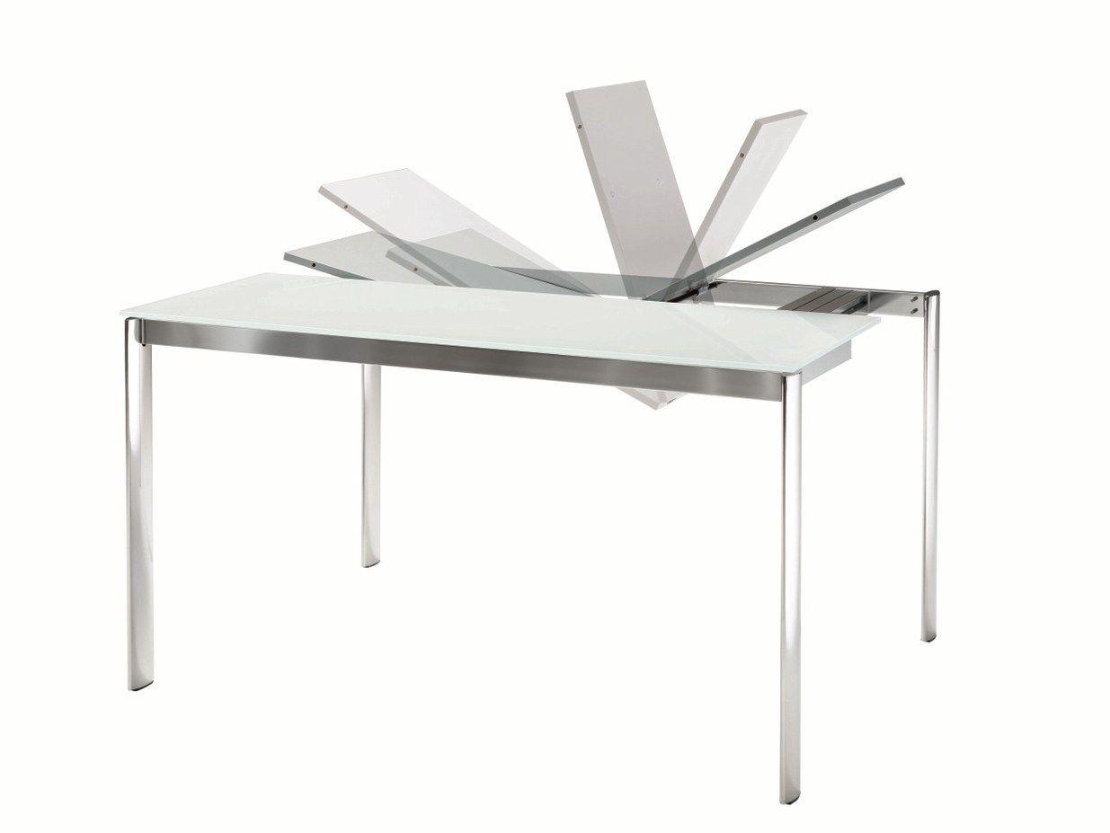 table console extensible en cristal etico by bontempi casa. Black Bedroom Furniture Sets. Home Design Ideas