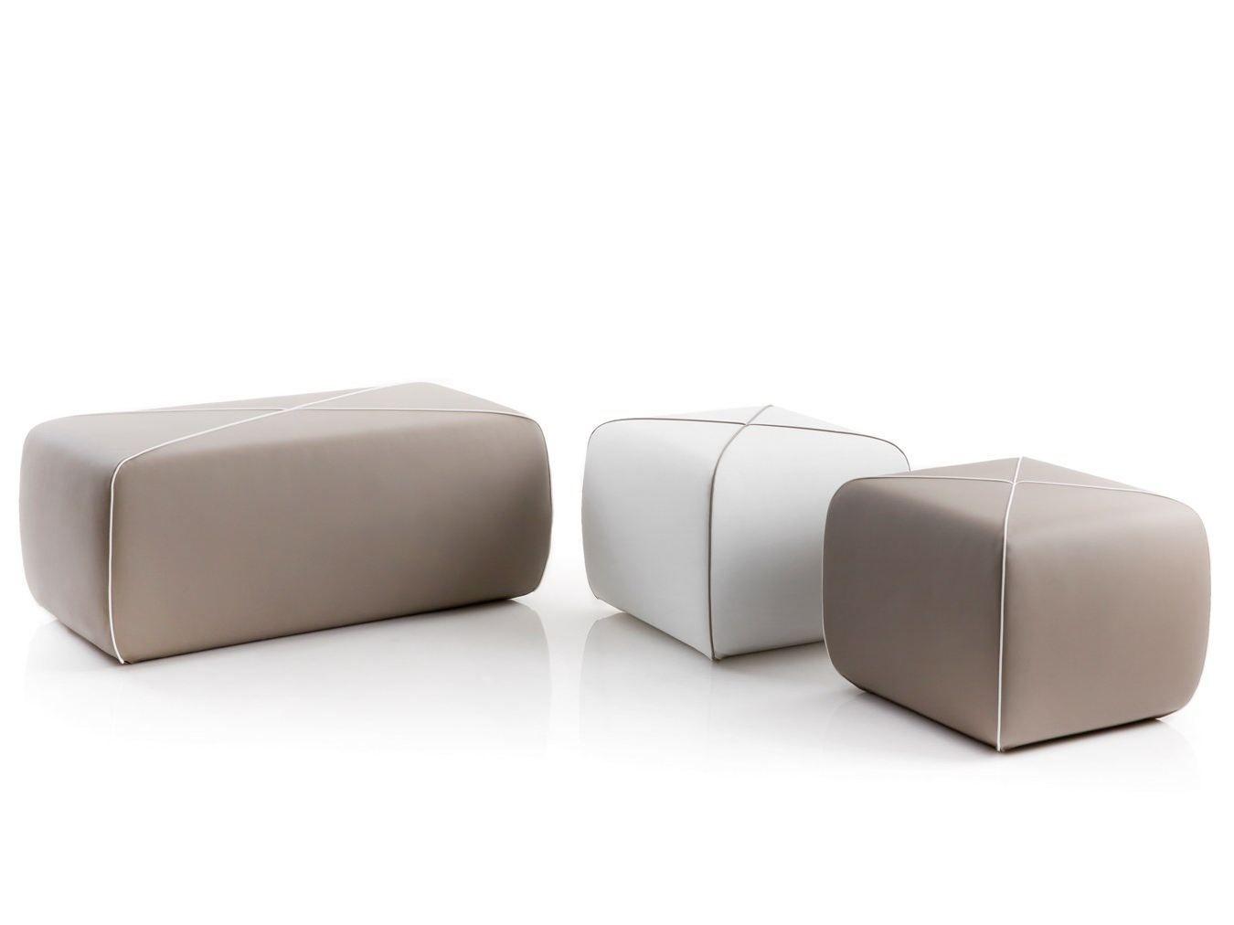 Pouf Da Giardino Imbottito Crossed By B Line Design Joe Colombo