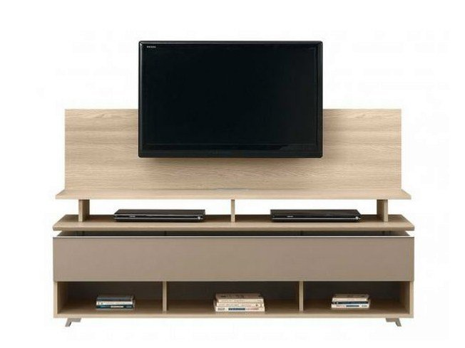 Banc tv avec support tv artigo collection artigo by for Meuble support tv