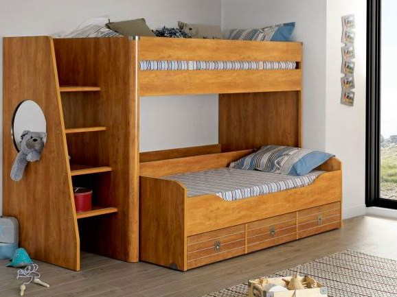 Majestic bunk bed by gautier france - Lit superpose 3 lits ...