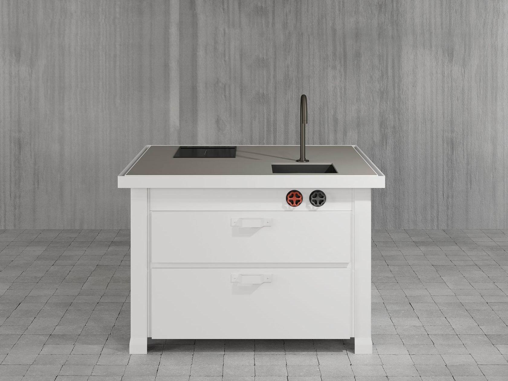 Mini-Küche aus Metall MINI MINÀ By Minacciolo Design Silvio Stefani | {Miniküche design 59}