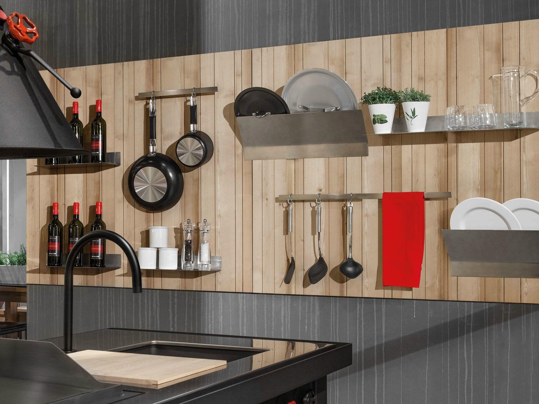 Schienale per cucina attrezzato in legno wall play by - Pannelli per cucina ...