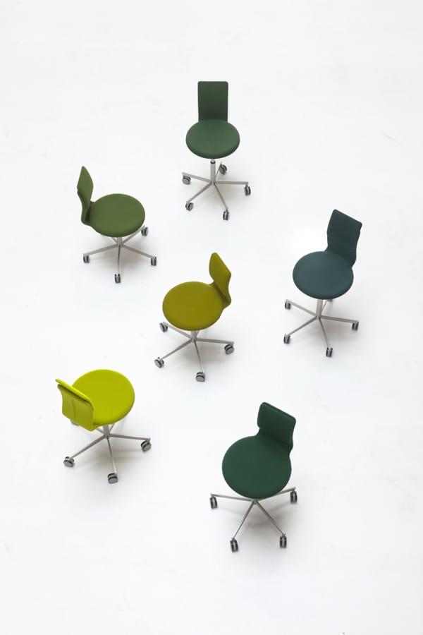 Drehbarer 5 speichen stuhl mit rollen lab kollektion lab for Design lab stuhl