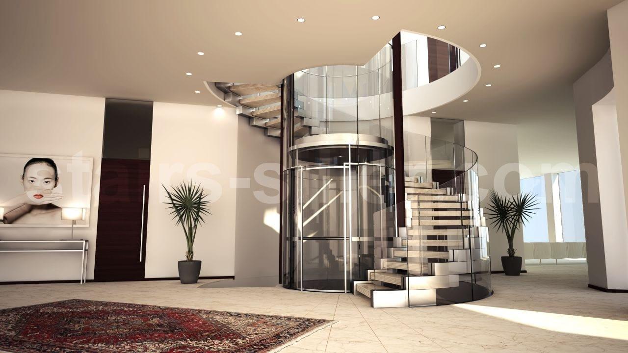 Cobra escalier en colima on h lico dal by siller treppen design christian siller - Escaliers en colimacon ...