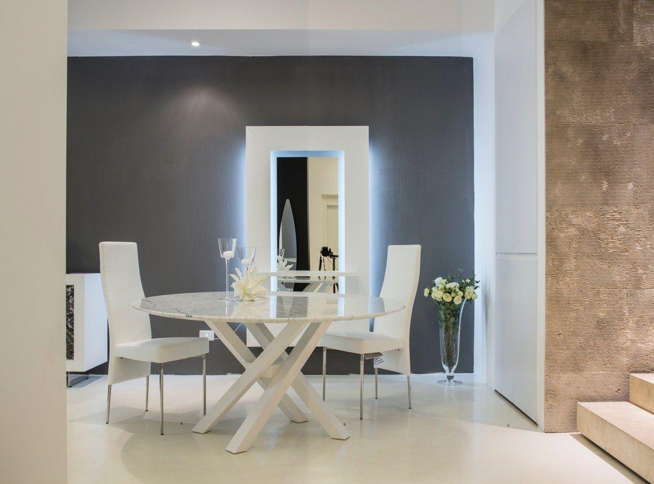 Shangai tavolo in marmo by riflessi design riflessi for Tavolo marmo design