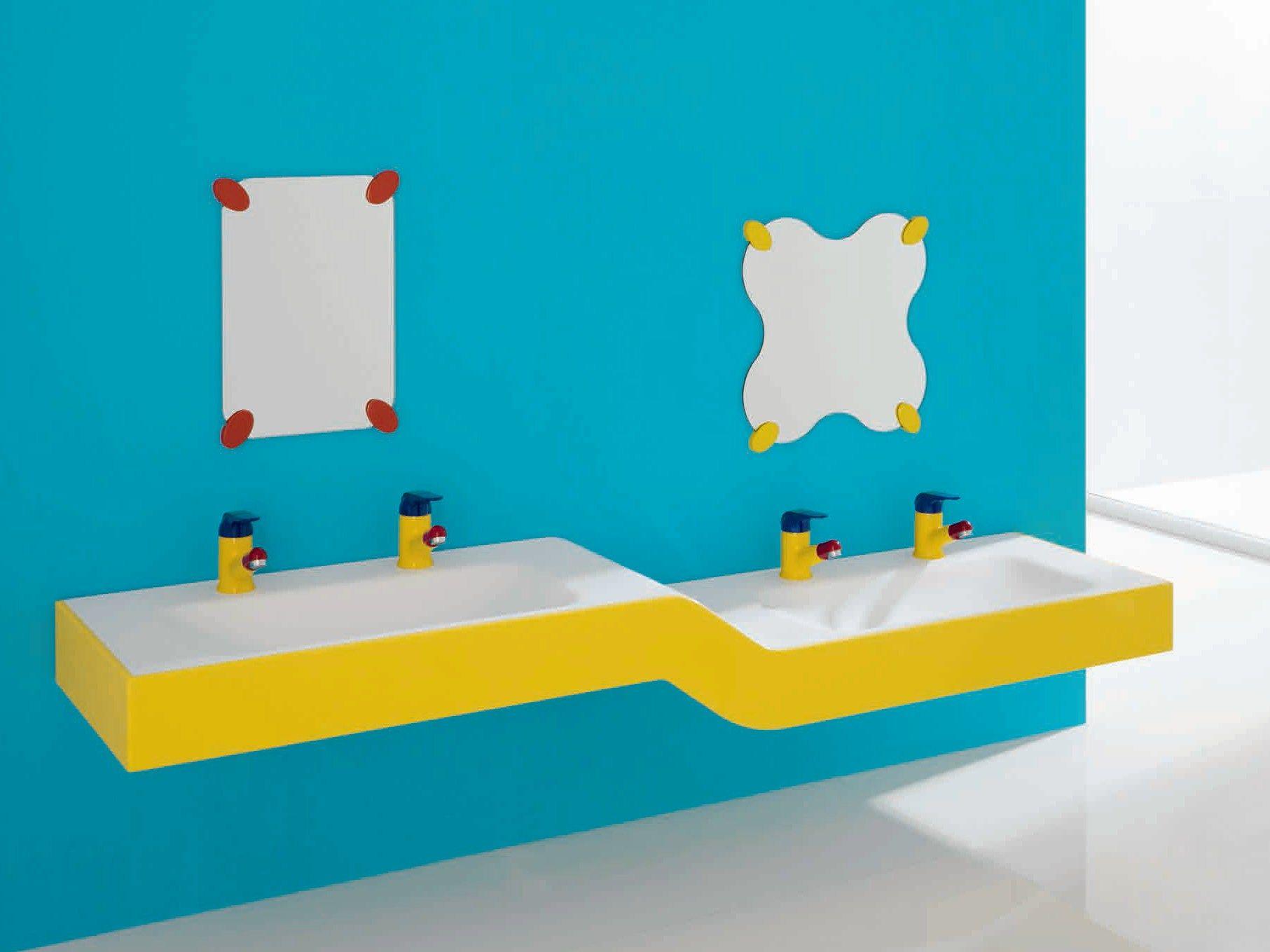 bagnocucciolo milk lavabo double by ponte giulio. Black Bedroom Furniture Sets. Home Design Ideas