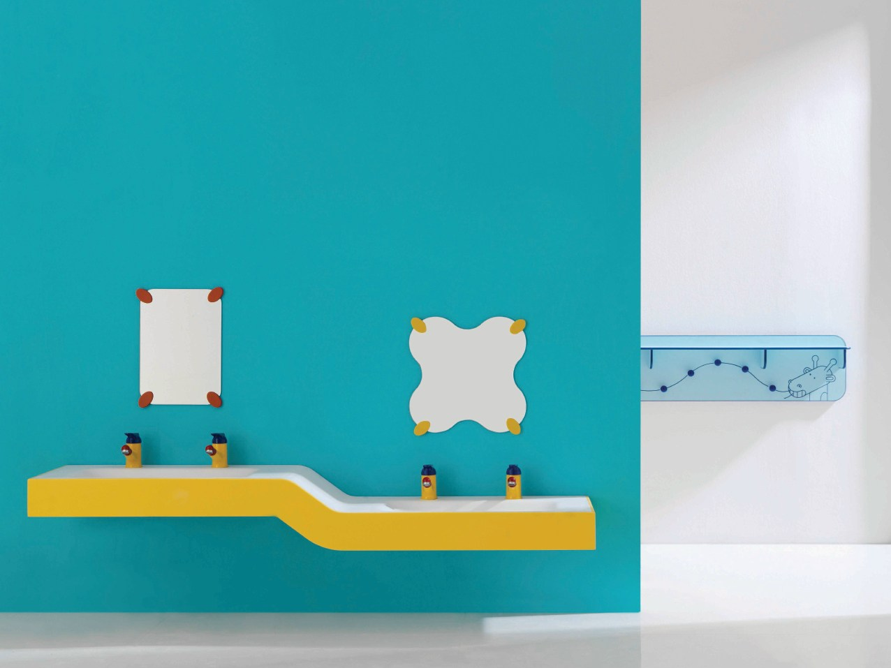 milk doppel waschbecken by ponte giulio. Black Bedroom Furniture Sets. Home Design Ideas