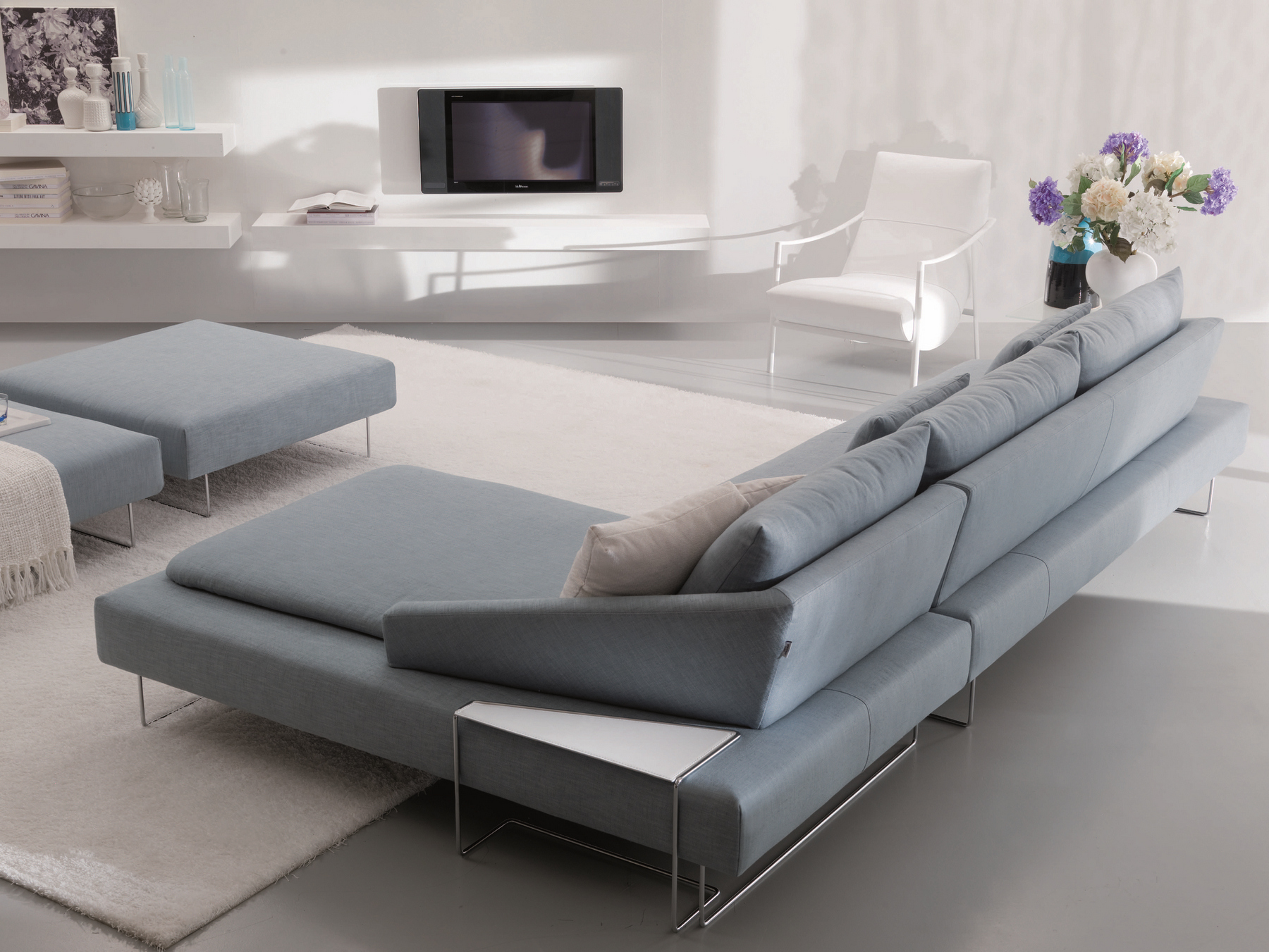 itaca corner sofa by bontempi casa design angelo natuzzi angelo dall 39 aglio. Black Bedroom Furniture Sets. Home Design Ideas