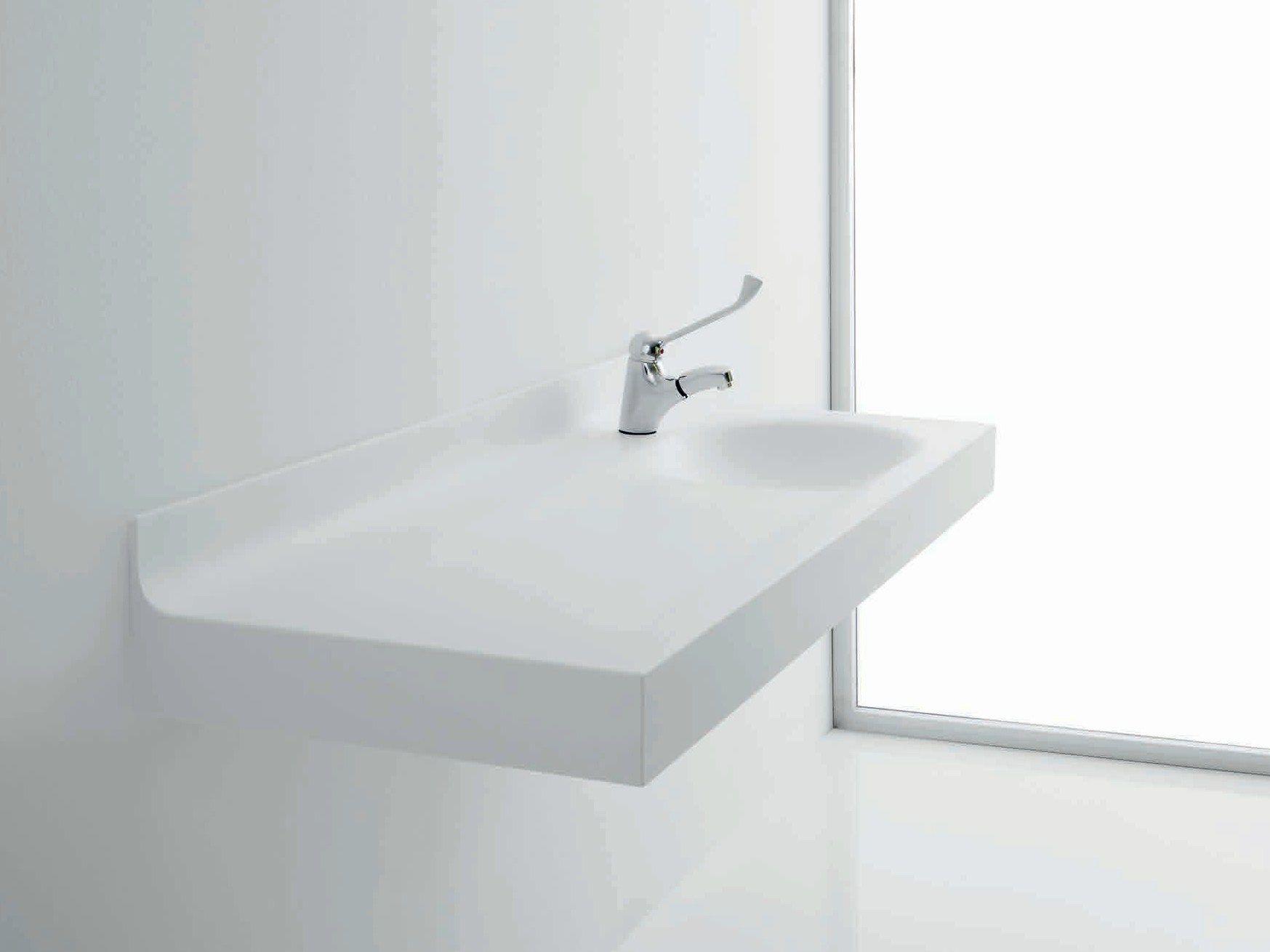Bagnocucciolo milk lavabo by ponte giulio for Lavabos de encastrar