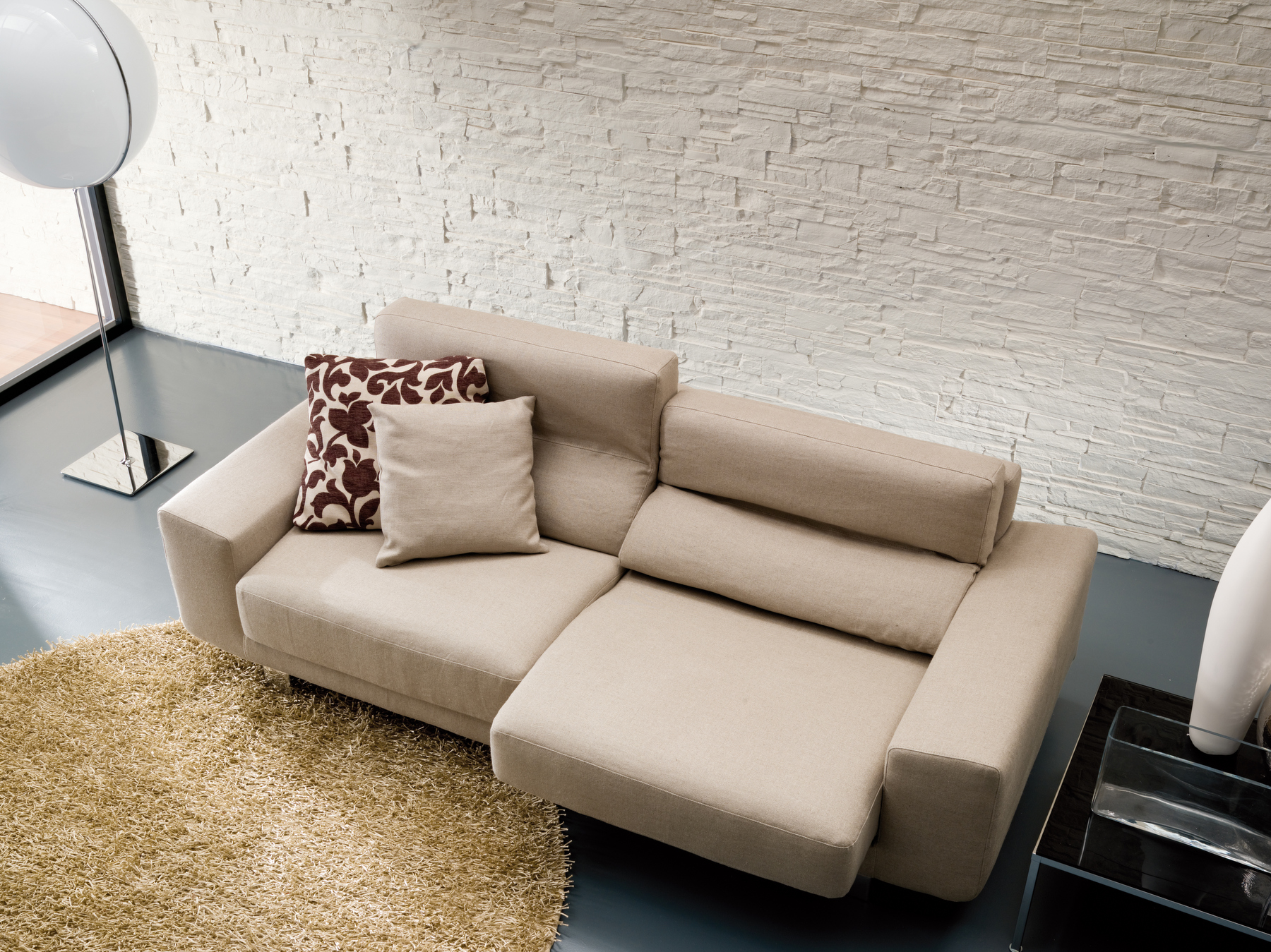Divano imbottito a 2 posti klaus divano in tessuto - Klaus divani e divani ...