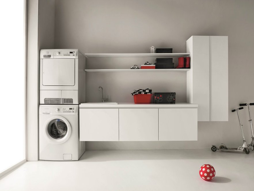 idrobox wall mounted laundry room cabinet by birex. Black Bedroom Furniture Sets. Home Design Ideas