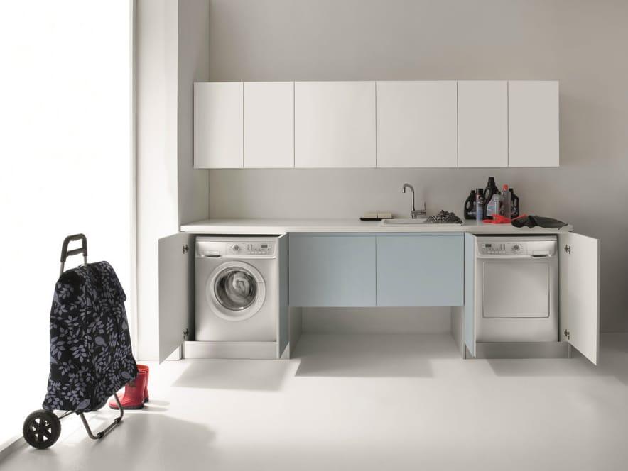 für Waschmaschine IDROBOX  WaschkücheSchrank mit Türen  Birex